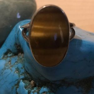 Jewelry - Tigers eye and sterling silver ring.